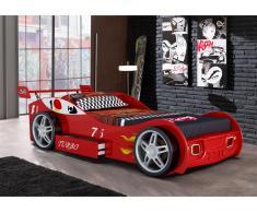 Letto auto con cassetto 90 x 200 cm Rosso - RUNNER