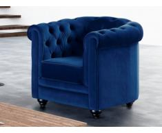 Poltrona in velluto CHESTERFIELD - Blu notte