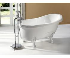 Vasca da bagno freestanding retro 145x74xH77 cm 171 LBianco e piedi bianchi - EGEE II