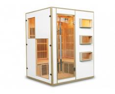 Sauna a infrarossi 3/4 posti Gamma prestige MIKELI III - Bianco