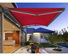 Tenda a cassettone motorizzato a LED ASTROLA - rosso - 5 x 3m