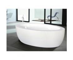 Vasca da bagno centro stanza MARMARA - 206 L - 185 x 91 x 58 cm - Bianco