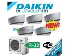 Daikin Condizionatore 4 x FTXJ20MS FTXJ35MS 5MXM90M PENTA Split Emura Argento Gas R-32 Bluevolution 7+7+7+7+12 WiFi Integrato