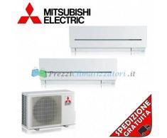 Mitsubishi Condizionatore 2 x MSZ-SF35VE MXZ-2D53VA Dual Split Serie SF 12+12 Btu
