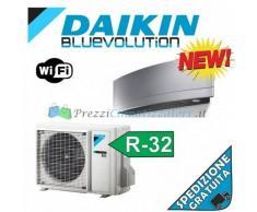 Daikin Condizionatore FTXJ50MS RXJ50M Mono Split Serie Emura Argento Gas R-32 Bluevolution 18000 Btu WiFi Integrato