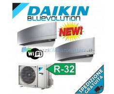 Daikin Condizionatore FTXJ20MS FTXJ50MS 2MXM50M Dual Split Serie Emura Argento Gas R-32 Bluevolution 7+18 WiFi Integrato