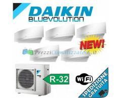 Daikin Condizionatore 4 x FTXJ20MW FTXJ25MW 5MXM90M PENTA Split Emura Bianco Gas R-32 Bluevolution 7+7+7+7+9 WiFi Integrato