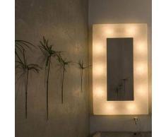 ines artdesign Cornice luce / specchio Ego 2 - Bianco