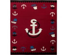Tappeto per la stanza dei bambini Design tappetino in velluto con ancora di Hanse Home