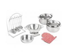 Accessori per cucina 13 pz. Per cucine giocattolo di Pinolino