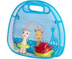 Set per bagnetto con cestino portagiochi, giocattolo da bagno e 2 barchette di Sophie la girafe