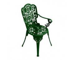 SELETTI sedia con braccioli INDUSTRY GARDEN (Verde - Alluminio)