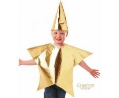 Costume Stella di Natale 3/5 anni.Costumi Carnevale Bambini 3/4 anni, vestiti e travestimenti Halloween e Natale