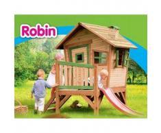 Casetta per Bambini in Legno di Cedro con Scivolo ROBIN di AXI