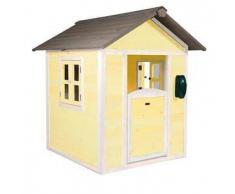 Casetta per Bambini in Legno di Cedro Lodge Gialla e Bianca di SUNNY