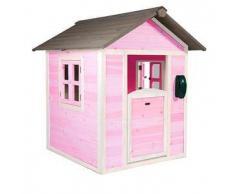 Casetta per Bambini in Legno di Cedro Lodge Rosa e Bianca di SUNNY