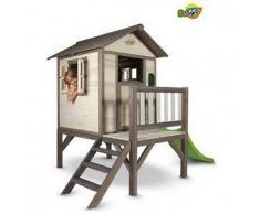 Casetta per Bambini in Legno di Cedro Lodge XL con Scivolo e Veranda di SUNNY