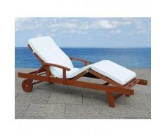 beliani Cuscino da esterno - Per le chaise-longue - Beige