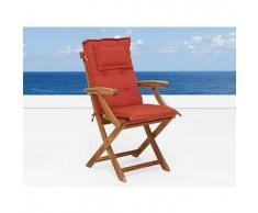 beliani Cuscino da esterno - Per sedia Britannia - Terracotta