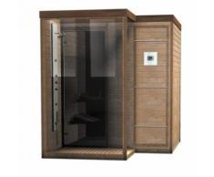 Doccia Sauna finlandese combinata in legno di abete o betulla rossa