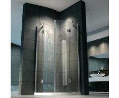 Box doccia semicircolare lusso in vetro trasparente spesso 8 mm