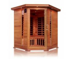 Sauna ad infrarossi a pannelli di carbonio con aromaterapia, per 4 persone ad angolo