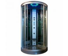 Box doccia idromassaggio semicircolare Krystal 100x100 (90x90 a muro)