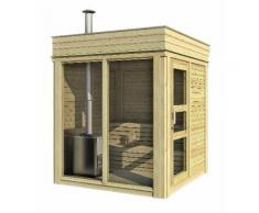 Sauna CUBE finlandese da esterno fino a 10 persone, in abete di qualità