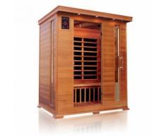 Sauna infrarossi a pannelli di carbonio per 3 persone aroma-cromoterapia