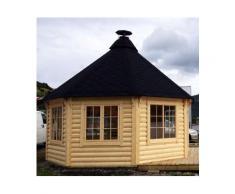 Gazebo in legno da giardino bungalow da 16,5mq fino a 21 persone