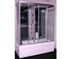 Box combinato doccia e vasca idromassaggio con Bagno Turco 170x80 Atena