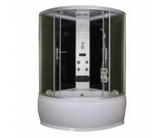 Box doccia idromassaggio semicircolare con vasca 120x120