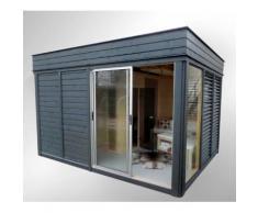 Gazebo centro benessere da esterno, sauna, doccia, spogliatoio, area relax, bungalow