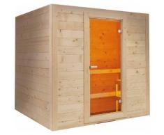 Sauna finlandese in abete rosso massello 6/8 posti