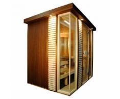 Sauna finlandese dal design raffinato e moderno
