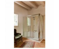 Kit Cabina + piatto doccia in vetro temprato 170 x70cm per sostituzione vasca da bagno