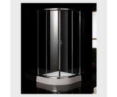 Cabina doccia semicircolare in vetro 80x80 o 90x90