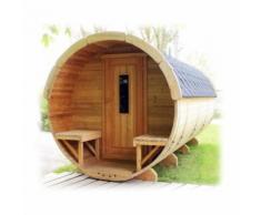 Sauna finlandese a botte da esterno con stufa elettrica o a legna fino a 8 persone