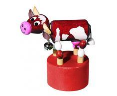 Detoa 12536 - Giocattolo in legno a forma di mucca, mobile