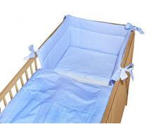 cosing 332 - 032 - 144 bambini biancheria da letto set sleeplease cotone 3 pezzi - A quadri, colore: blu