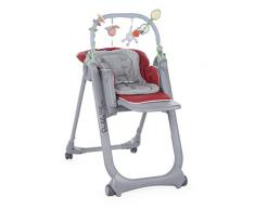 Chicco 04079432700000 Polly Magic Relax Seggiolone con 4 Ruote, Red