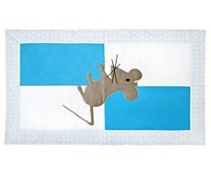 Igolo artigianale Tappeto per mouse, per camera da letto, in cotone, colore: turchese