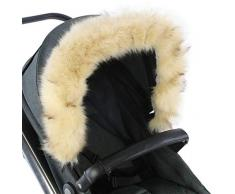For-Your-Little-One - Cappuccio in pelliccia compatibile con passeggino Stokke, colore: Beige