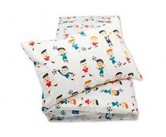 Pepi Leti 685843715337 - Biancheria da letto per bambini, motivo calciatore, multicolore