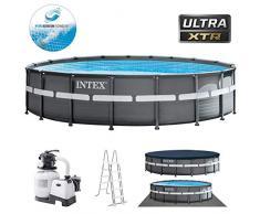Intex 26330 piscina fuori terra Piscina con bordi Piscina rotonda 26432 L Nero