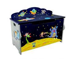 Cassapanca portagiochi legno bambini Fantasy Fields Outer Space TD-12219A