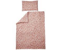 Meyco 422054 - Biancheria da letto per bambini, 40 x 60 cm e 100 x 135 cm, motivo Panter, colore: Rosa