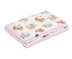 Pepi Leti 685843716266 - Coperta per bambini, 100 x 75 cm, colore: Rosa chiaro