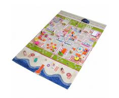 Little Helper 121MD035100150 - Tappeto da gioco per bambini, ipoallergenico, in 3D, 100 x 150 cm, multicolore