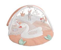 Fehn, Tappeto 3D per attività, con arco giochi con 5 giochi rimovibili, per il divertimento e il gioco dei bambini sin dalla nascita
